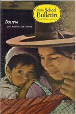 national geographic-SCHOOL BULLETIN-nov 28,1966-BOLIVIA.