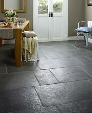 Cut down sample of cathedral brushed & chipped limestone floor tiles 60 x 30cm