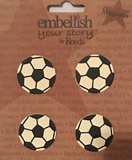 Nip Embellish Your Story Soccer Ball Magnets By Roeda Set of 4 Sports