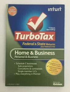 2012 Turbotax Home & Business Federal & State CD PERSONAL & SMALL BUSINESS