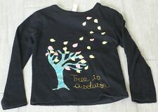 "5237 - T-shirt ML 5 ans noir OKAIDI ""Tree is a solution"""