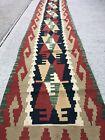 Narrow Turkish Kilim Kelim Rug Runner 11 4 x2 1  Handmade  Vintage  Tribal