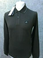 C.P. Company Long Sleeve Cotton Polo Shirt Brand New With Tags Dark Green