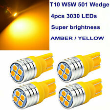 4x 4-SMD LED Bulbs For Ford Chevy GMC T10 W5W Sidelight License Plate bulb Amber