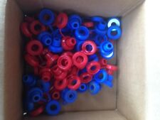 Hi Temp Red/Blue Snapper Exhaust Grommet W/Washer anti-vibration Insulator-50 Pc