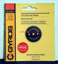 "Gyros~81-31222~Circular Rip Saw Blade~Thin~1 1/4"" Diameter~48 Teeth~1/8"" Hole"
