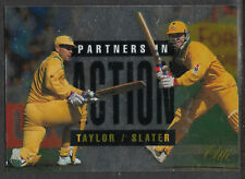 FUTERA 1996 CRICKET ELITE MARK TAYLOR & MICHAEL SLATER PARTNERS CARD No 47