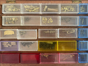 Ho Scale Brass Lot Steam Engine Locomotive Detail Replacement Parts With Box