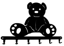 Schlüsselbrett / Hakenleiste * Teddy * Teddybär Schlüsselboard - 6 Haken - Metal