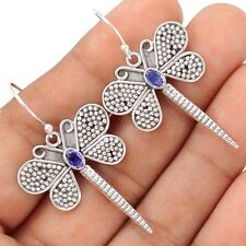 Dragonfly - Iolite 925 Sterling Silver Earrings Jewelry SE109747