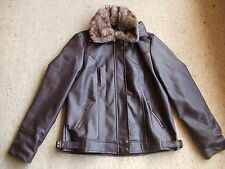 "Ladies ""Millers"" Unwanted Chocolate Jacket with Fur Collar Size 12 BNWT"