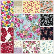 Gorgeous Roses Floral Fabric Collection-100% COTTON Poplin Fabric sewing, crafts
