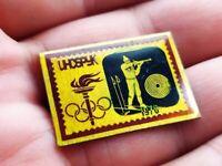 Vintage Soviet Pin Badge Winter Olympic Games,Innsbruck 1976,Biathlon,USSR
