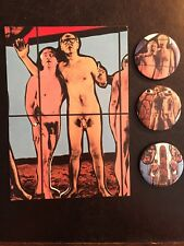 Gilbert And George Naked Sh*t Pictures Gallery Invite & unlimited edition badges