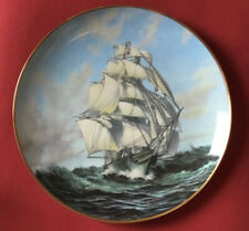 """Thermopylae/Porcelain Plate 9"""" Franklin Mint Collection/Great Clipper Ships 1981"""