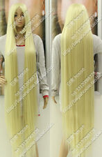 new wig150cm 60'' Platinum Blonde Long straight hair Christmas costume party wig