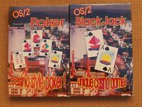 OS/2 BLACK JACK AND POKER GAME SOFTWARE BUNDLE FOR OS/2 USERS AND COLLECTORS