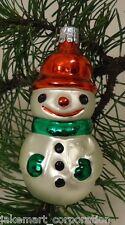 Snowman Old World Ornament European Glass