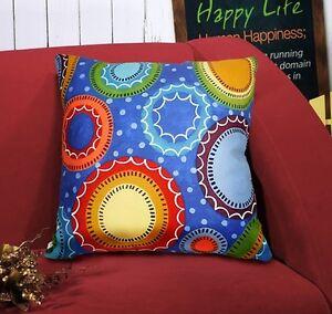 Blooming Circles VELVET PILLOW COVER FOLK ART Prim Various Sizes KARLA GERARD
