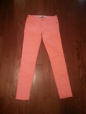 NWT A&F Women's Skinny Jeans Size 2R Colored Denim Neon Orange $80