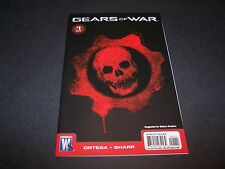 GEARS OF WAR #1 1ST PRINT BLACK CRIMSON OMEN COVER XBOX360 VIDEO GAME COMIC 2 3