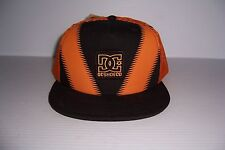 DC SHOES ORANGE & BLACK TRUCKER HAT SNAPBACK HAT CAP MEN'S NEW WITH TAG!