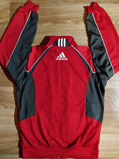 Adidas 90's Vintage Mens Tracksuit Top Jacket Red Gray Sweatshirt