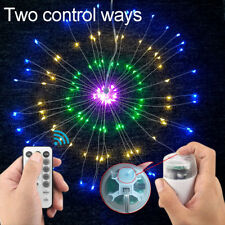 """7.1"""" Fireworks Multicolor LED Copper Wire Strip String Hang Lights Wedding Party"""