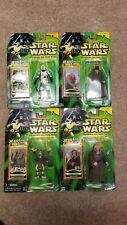 Star Wars - POTJ - Jedi Force File Scout Trooper, Saesee, Plo Koon , Sebulba Lot