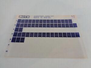 Microfiche Catalogue des Pièces Roth Toro Chasse-Neige Puissance Maj