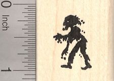 Small Zombie Rubber Stamp, Halloween Folklore, Undead, Facing Left  D25412 WM