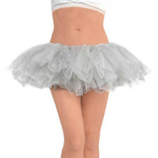 SILVER ADULT TUTU ~ Birthday Halloween Party Supplies Costume Tulle Dress Up