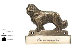 Cavalier King Charles Spaniel - mosiężna tabliczka, wizerunek psa, grawer Art Do