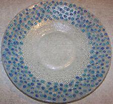 "CLEARANCE GLASS 13"" TURKISH DECORATIVE HANDMADE THICK PLATE"