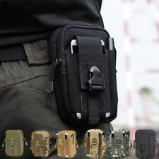 Men Women Running Travel Waist Bum Belt Bag Fanny Pack Pouch Hip Purse *BLACK*