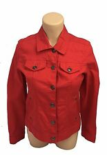 NEW Baccini Jacket True Red Button Down Front and Inner Pockets Size Small NWT