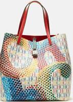 NWT Carolina Herrera Matryoshka Lock colors editors canvas PVC