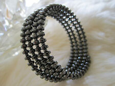Magnetic / hematite bracelet, multi-strand – Drum-shaped beads, FREE SHIPPING!