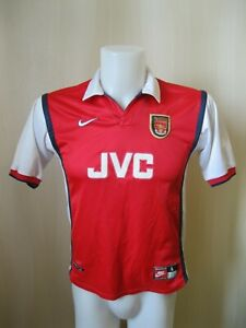 BOYS Arsenal London 1998/1999 Home Size L Nike shirt jersey soccer football