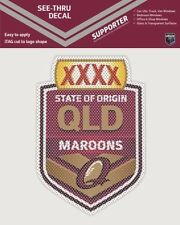 620394 QUEENSLAND MAROONS STATE OF ORIGIN SEE THRU CAR STICKER DECAL SOO QLD
