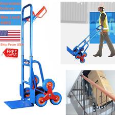 440lb Stair Climbing Folding Hand Truck Wheels Cart Dolly Industrial Heavy Duty