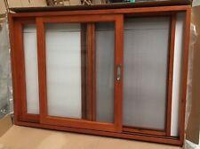 SLIDING WINDOW TIMBER, SOLID CEDAR WINDOW, 6MM GLASS, 2100 x 1200 L - R