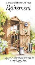 CONGRATULATIONS ON YOUR RETIREMENT - YESTERYEAR - GARDEN SHED