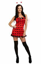 SEXY LADY BUG INSECT WOMAN'S FANCY DRESS COSTUME LADIES TEEN LADYBIRD OUTFIT