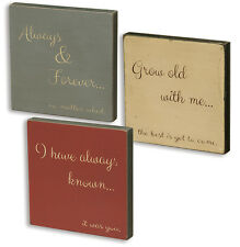 Grow Old With Me, Have Always Known It Was You, Always & Forever, Set of 3, New