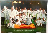 Real Madrid + Fußball Champions League 2002 Winner + Fan Big Card Edition A154 +