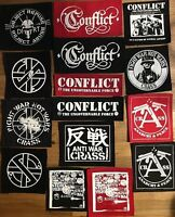CRASS CONFLICT DIRT patches anarcho punk rock