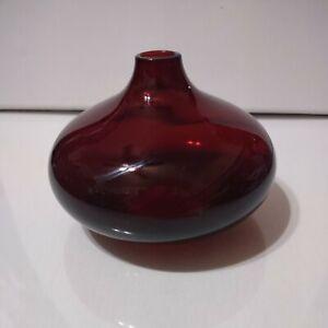 IKEA Salong Cranberry Ruby Red Glass Vase Johanna Jelinek  New Nordic Modernist