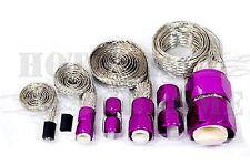 Braided Steel Hose Sleeving Kit Vacuum Line Fuel Line  Radiator Heater Purple