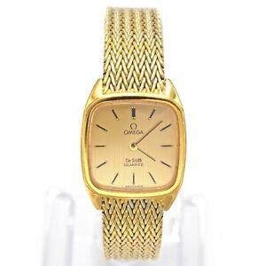 Vintage Omega De Ville Quartz Women's Watch 22.5 mm